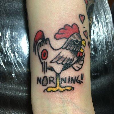 手臂公鸡纹身-缩略图