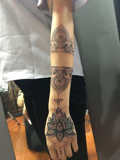 手臂对称图形纹身-缩略图