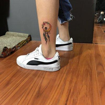 脚踝小清新纹身-缩略图
