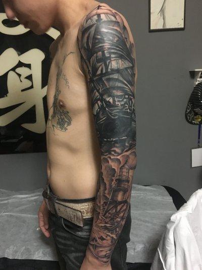肩部+手臂覆盖遮盖纹身-缩略图