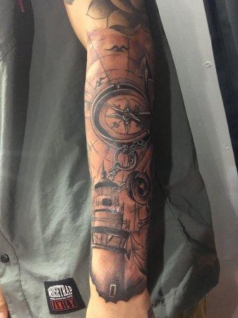 深圳手臂指南针纹身-缩略图