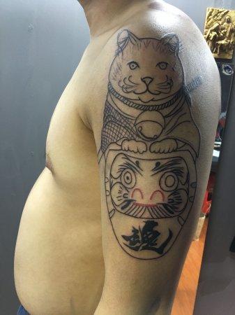 猫剑客纹身-缩略图