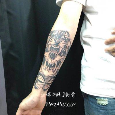 深圳纹身—手臂艺术型纹身作品