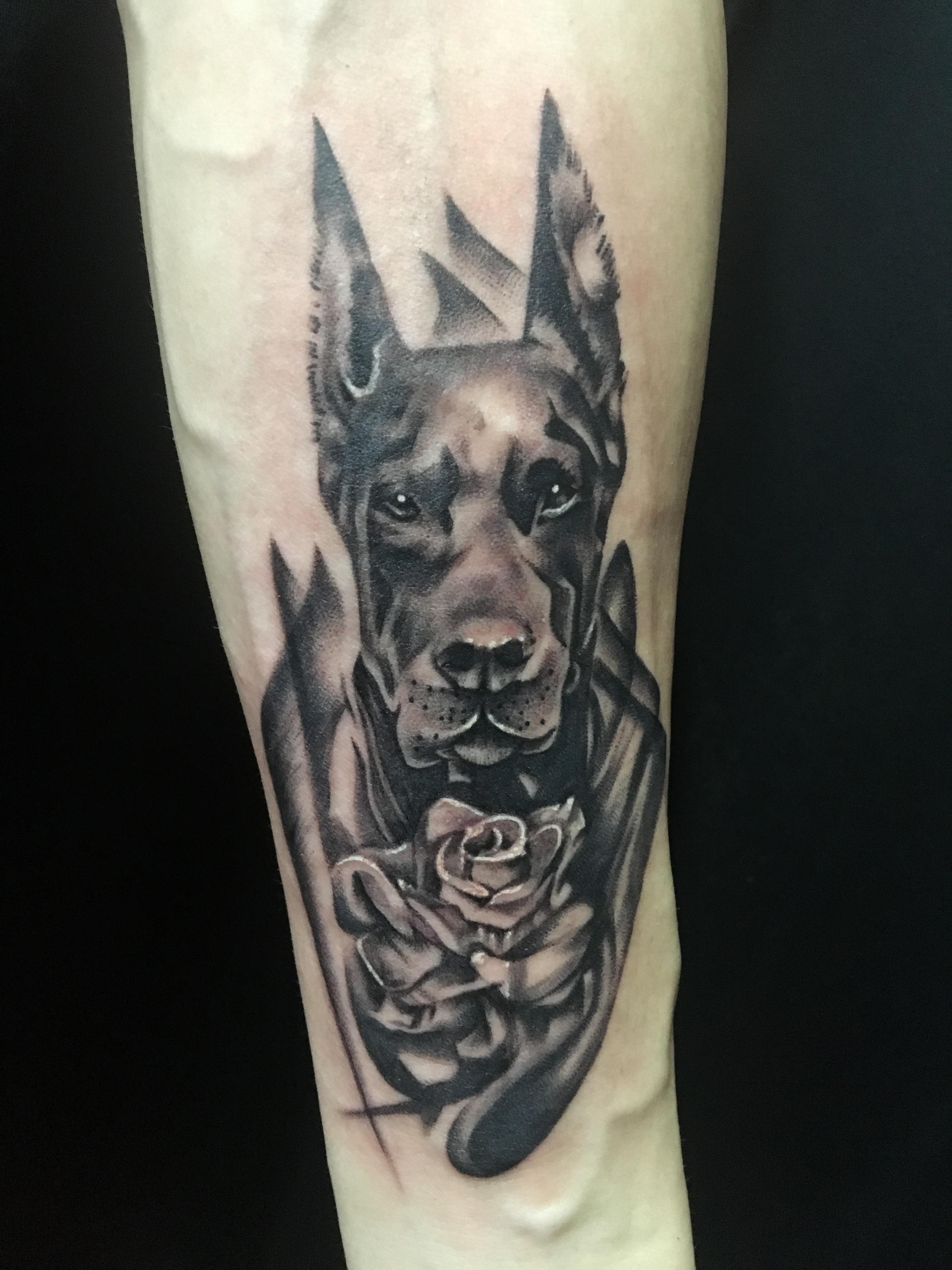 手臂动物纹身-缩略图