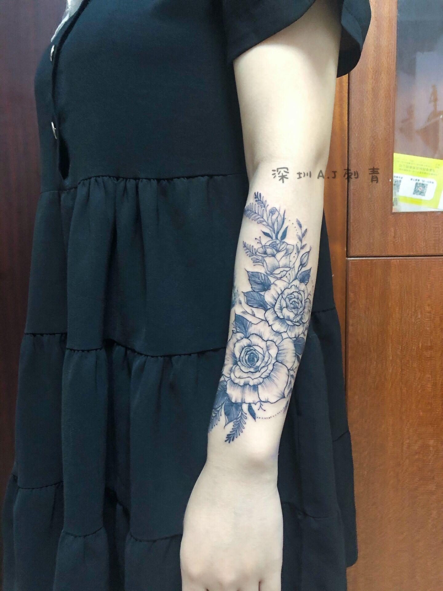 素花纹身-缩略图